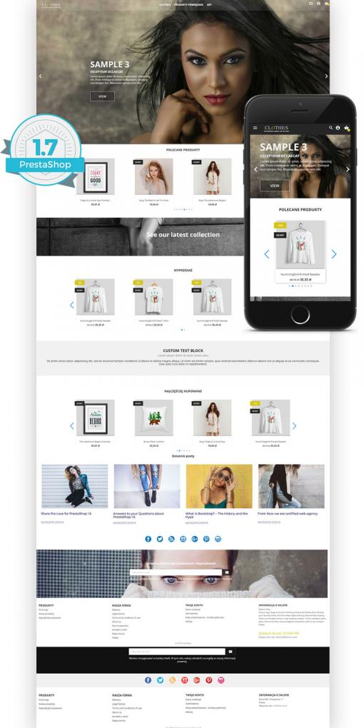 Szablon PrestaShop 1.7 Full Screen , Smart Blog i Page builder